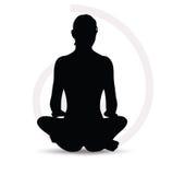 Woman silhouette on sofa Royalty Free Stock Photo