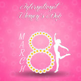 Woman silhouette for Women's Day Royalty Free Stock Image