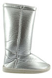 Woman silver boot Royalty Free Stock Photo