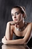 Woman with silver jewellery Royalty Free Stock Photo