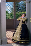 Woman in the similitude of Marguerite of Navarre, queen of France Royalty Free Stock Photos