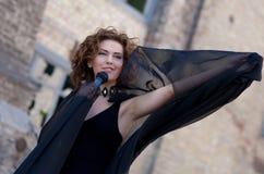 Woman singer Royalty Free Stock Photos