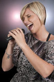 Woman Singer Royalty Free Stock Photo