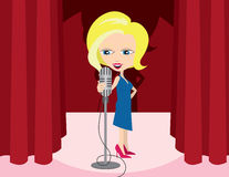 Woman Singer Stock Images