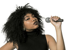 Woman Singer. Beautiful woman singer performing at a concert Royalty Free Stock Photo