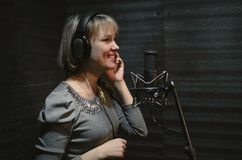 Singer. stock image