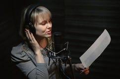 Singer. stock photo