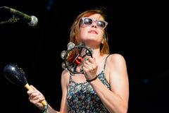 Woman singer of Kokoshca (Spanish band) performs at FIB Festival Royalty Free Stock Photo