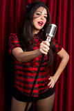 Woman Singing stock photography