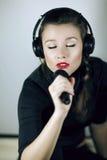 Woman Singing Stock Image