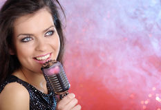 Woman Singing Royalty Free Stock Photos