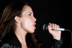 Woman Singing Royalty Free Stock Image
