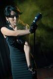 Woman singing jazz Royalty Free Stock Images