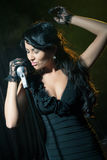 Woman singing jazz Royalty Free Stock Photo