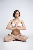 Woman sit in yoga pose - lotos Stock Photos