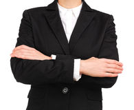 Woman site manager crossing arms Stock Photography