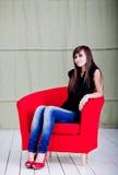 Woman sitting Stock Photos