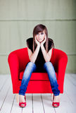 Woman sitting Stock Photo