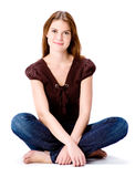 Woman Sitting Stock Images