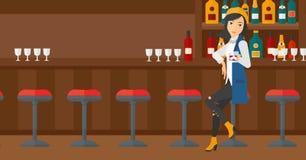 Woman sitting at bar. Royalty Free Stock Photo