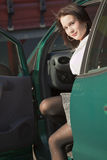 Woman sitting in car Stock Photos