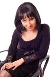 woman sitting on chair  Stock Photography