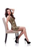 Woman sitting on the chair Royalty Free Stock Photo