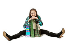 woman sitting on the floor Stock Photo