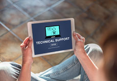 Technical support concept on a tablet Royalty Free Stock Image