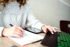 Business Woman working at the Office royalty free stock images