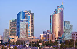 Modern the high-rise buildings in the Astana city, Kazakhstan  Royalty Free Stock Photos