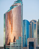 Modern the high-rise buildings in the Astana city, Kazakhstan  Royalty Free Stock Photo