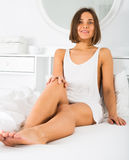 Woman sitting poses Royalty Free Stock Photography