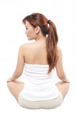 Woman sitting taken from behind Stock Photos