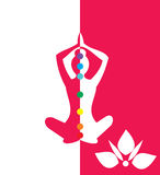 Woman sitting in yoga position - vector illustration Royalty Free Stock Photography