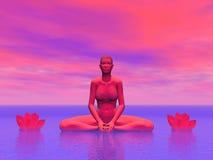 Colorful lotus - 3D render Stock Image