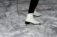 Woman skater on the ice. Royalty Free Stock Photos