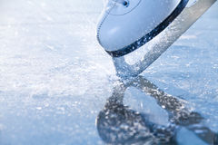 Woman skates braking ice, frazil Royalty Free Stock Photography