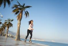 Woman skating royalty free stock images