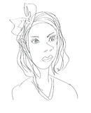 Woman sketch Royalty Free Stock Images