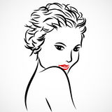 Woman sketch Stock Images