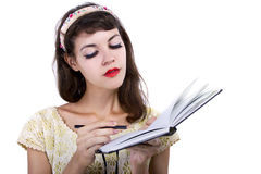 Woman with Sketchbook Royalty Free Stock Photos