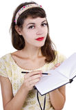 Woman with Sketchbook Royalty Free Stock Image