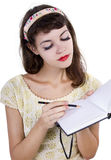 Woman with Sketchbook Royalty Free Stock Images