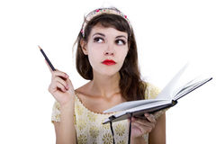 Woman with Sketchbook Royalty Free Stock Photo