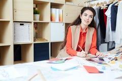 Woman sketching Royalty Free Stock Photo