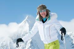 Woman ski Royalty Free Stock Photography
