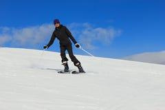 Woman on the ski Stock Photos