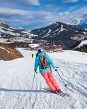 Woman On the Ski Royalty Free Stock Photography