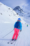Woman On the Ski stock image